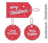 set of merry christmas  gift... | Shutterstock .eps vector #781001644