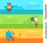 different types of batteries... | Shutterstock .eps vector #781003909