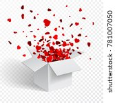 gift box present with fly... | Shutterstock .eps vector #781007050