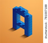 3d isometric letter a of the... | Shutterstock .eps vector #781007188