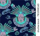 seamless pattern mysterious... | Shutterstock .eps vector #781008160