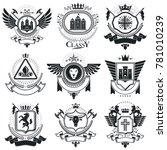 heraldic coat of arms...   Shutterstock . vector #781010239