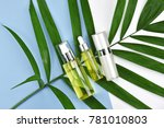 cosmetic bottle containers with ... | Shutterstock . vector #781010803