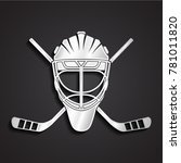 3d silver shiny metal hockey... | Shutterstock .eps vector #781011820