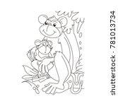 baby monkey sitting in a monkey ...   Shutterstock .eps vector #781013734