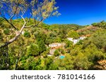 panorama of caldas de monchique ... | Shutterstock . vector #781014166