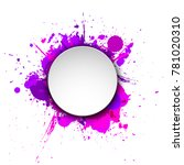 banner blot presentation ... | Shutterstock . vector #781020310