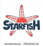 sea star logo starfish | Shutterstock .eps vector #781024210