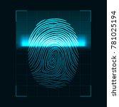 fingerprint scanning concept.... | Shutterstock .eps vector #781025194