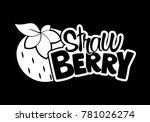 strawberry fruit logo | Shutterstock .eps vector #781026274