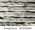 stone wall for background.... | Shutterstock . vector #781033840
