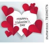 postcard for valentine's day... | Shutterstock .eps vector #781040776