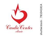 cardiology conceptual logo... | Shutterstock . vector #781041814