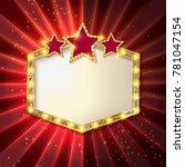 stars over copyspace. frame... | Shutterstock .eps vector #781047154