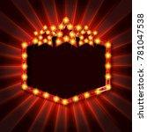 stars over copyspace. frame... | Shutterstock .eps vector #781047538