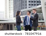 multicultural business people... | Shutterstock . vector #781047916