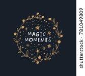 vector  clip art. magic  frame  ...   Shutterstock .eps vector #781049809
