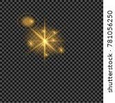 lens flare vector illustration. ... | Shutterstock .eps vector #781056250