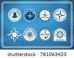 set of nautical and marine... | Shutterstock .eps vector #781063423