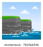 cliffs of moher in county clare.... | Shutterstock .eps vector #781066546