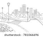 street road graphic black white ... | Shutterstock .eps vector #781066696