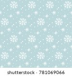 snow pattern  vector | Shutterstock .eps vector #781069066