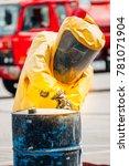 firefighter training protect... | Shutterstock . vector #781071904