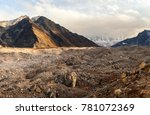 view from the moraine near... | Shutterstock . vector #781072369