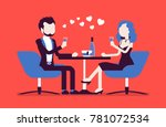 couple on a romantic date.... | Shutterstock .eps vector #781072534