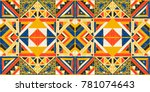 tribal vector ornament.... | Shutterstock .eps vector #781074643