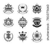 flowers  royal symbols  floral... | Shutterstock . vector #781075660