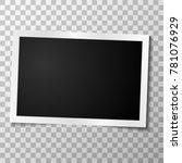 retro realistic vector photo... | Shutterstock .eps vector #781076929