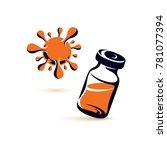 medical vial illustration... | Shutterstock . vector #781077394