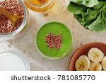 healthy green smoothie made... | Shutterstock . vector #781085770
