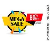mega sale discount banner...   Shutterstock .eps vector #781091326