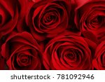 Stock photo bouquet of red roses background 781092946