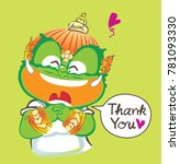 thai giant saying thank you and ... | Shutterstock .eps vector #781093330