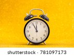 vintage clock at five minute to ... | Shutterstock . vector #781097173
