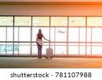 traveler woman plan and... | Shutterstock . vector #781107988