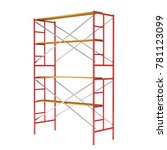 scaffolding metal construction... | Shutterstock . vector #781123099
