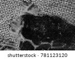 black and white round spots... | Shutterstock . vector #781123120
