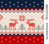 ugly sweater merry christmas... | Shutterstock . vector #781131088