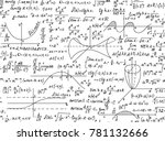 mathematical vector seamless... | Shutterstock .eps vector #781132666
