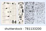 vector restaurant brochure ... | Shutterstock .eps vector #781133200