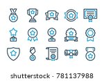 awards related line icons.... | Shutterstock .eps vector #781137988