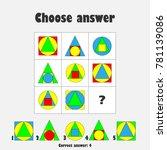 choose correct answer  iq test... | Shutterstock .eps vector #781139086