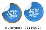 new arrival stickers | Shutterstock .eps vector #781140724