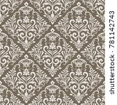 beige and white seamless floral ... | Shutterstock .eps vector #781142743