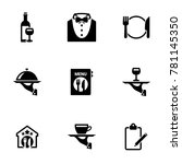 set of simple icons on a theme... | Shutterstock .eps vector #781145350