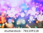 bokeh  unfocused  urban...   Shutterstock . vector #781149118